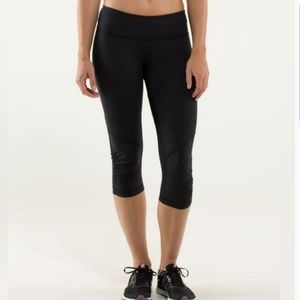Lululemon Run Pace Crop Black Leggings